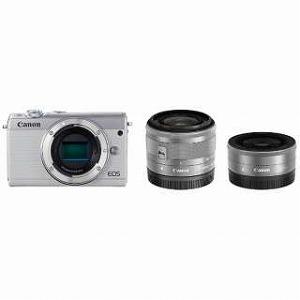 Canon ミラーレス一眼 EOS M100【ダブルレンズキット】 EOS M100(ホワイト)(送料無料)