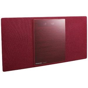 パナソニック 【ワイドFM対応】Bluetooth対応 ミニコンポ SC-HC400-R(レッド)(送料無料)