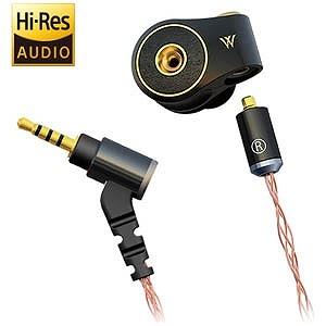 RADIUS ハイレゾ音源対応カナル型イヤホン リケーブル対応 HP-TWF32K  1.2mコード(送料無料)