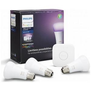 フィリップス LED電球 カラーグラデーション スターターキット 「Hue(ヒュー)」 PLH03CS