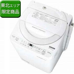シャープ 全自動洗濯機 (洗濯6.0kg) ES-GE6B-W ホワイト系(標準設置無料)