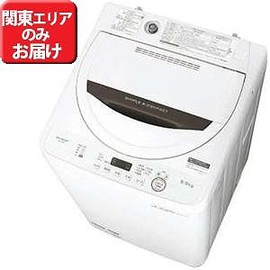 シャープ 全自動洗濯機 (洗濯5.5kg) ES-GE5B-T ブラウン系(標準設置無料)