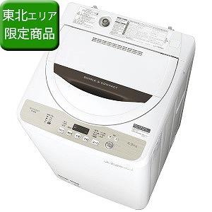 シャープ 全自動洗濯機 (洗濯4.5kg) ES-GE4B-C ベージュ系(標準設置無料)