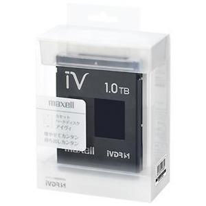 マクセル (iVDR-S)カセットハードディスク アイヴィ(iV)「カラーシリーズ」1TB(1個) M-VDRS1T.E.BK (ブラック)