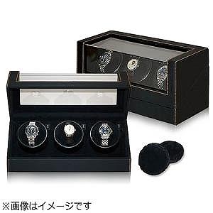 3本用黒合皮ウォッチワインダー IG-ZERO 110-1(110-1)