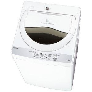 東芝 全自動洗濯機 (洗濯5.0kg) AW-5G6-W グランホワイト(標準設置無料)