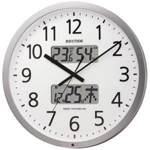 リズム時計工業 電波掛け時計「プログラムカレンダー403SR」 4FN403SR19