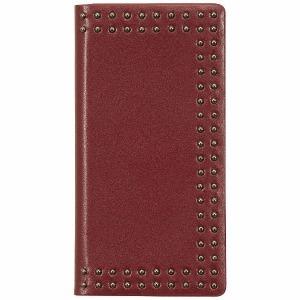 ROA iPhone X用 Dot Studs Diary レッド EB10251I8