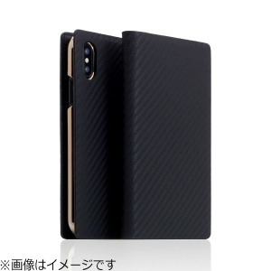 ROA iPhone X用 Carbon Leather case ブラック SD10511I8
