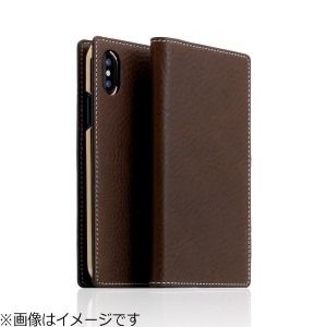 ROA iPhone X用 Minerva Box Leather Case ブラウン SD10515I8