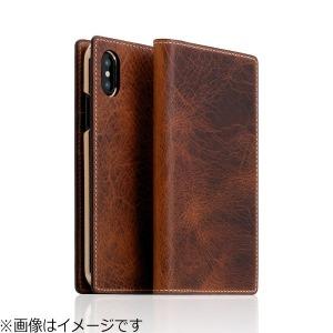 ROA iPhone X用 Badalassi Wax case ブラウン SD10522I8