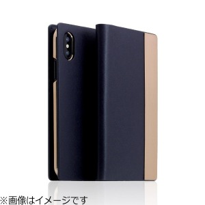 ROA iPhone X用 Calf Skin Metal Case ネイビー SD10546I8