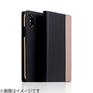 ROA iPhone X用 Calf Skin Metal Case ブラック SD10547I8