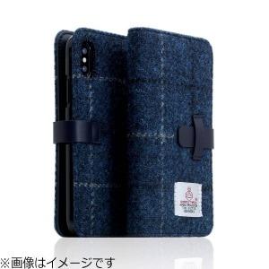 ROA iPhone X用 Harris Tweed Diary ネイビー SD10559I8