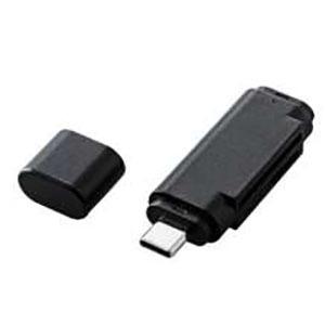 合計3 期間限定特別価格 980円以上で送料無料 メーカー直売 更に代引き手数料も無料 エレコム メモリリーダライタ 直挿しタイプSD microSD用ブラック MR3C-D011BK Type-Cコネクタ