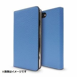 トーン iPhone 8 Plus用 Leather Folio Case ブルー/グレージュ CP-AP-PH7P-7304