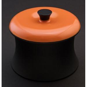 穴織カーボン ≪IH対応≫ カーボン製小型鍋 「COCOTTE RINGO(ココット リンゴ)」(0.55L) RG001SO スパニッシュオレンジ