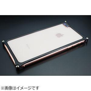 ギルドデザイン iPhone 8 Plus用 ソリッドバンパー ポリッシュブラック GI-412PB
