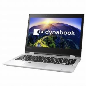 東芝 12.5型タッチ対応ノートPC[Office付き・Win10 Home・Core i3] dynabookV62/FSプレシャスシルバーPV62FSP-NEA(2018年春モデル)