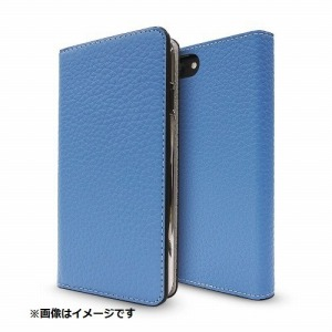 FOX iPhone 8用 Leather Folio Case ブルー/グレージュ CP-AP-PHE-77304