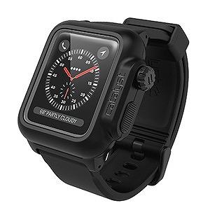 Apple Watch 42mm用完全防水ケース 「Catalyst」  CT-WPAW1742-BK ブラック(送料無料)