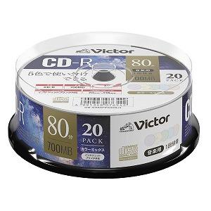 三菱ケミカルメディア 音楽用CD-R スピンドル 700MB 80分 20枚 AR80FPX20SJ1