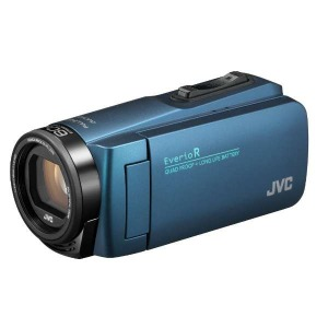 JVC・ビクター SD対応 32GBメモリー内蔵 防水・防塵・耐衝撃フルハイビジョンビデオカメラ GZ-R480-A (ネイビーブルー)