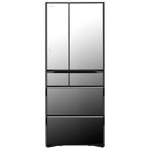 日立 6ドア冷蔵庫 (615L) 「WXシリーズ」 R-WX62J-X クリスタルミラー(標準設置無料)