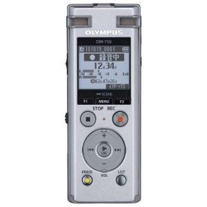 オリンパス ICレコーダー DM-750SLV シルバー (4GB)