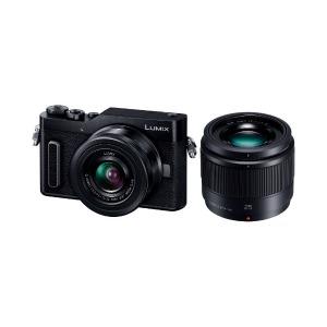パナソニック ミラーレス一眼カメラ LUMIX GF10(ダブルレンズキット) DC-GF10W-K(ブラック)(送料無料)