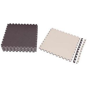 アイリスオーヤマ IRIS ジョイントマット 60×60 16枚 ブラウン/ベージュ  JTMR-616-BR(送料無料)