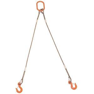 トラスコ中山 TRUSCO 2本吊りWスリング フック付き 12mmX2m GRE-2P-12S2