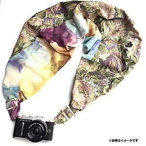 SSP カメラストラップSAKURAカメラスリング (ブラウンジャガード/シフォンフラワーM) SCSM081(Mサイ