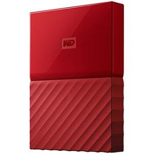 ウエスタンデジタル ポータブルHDD 4TB[USB-A 3.0・Win] My Passport WDBYFT0040BRD-JESN レッド(送料無料)