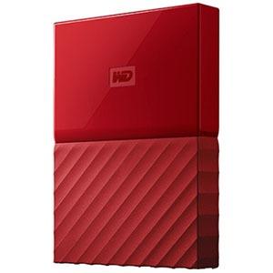 ウエスタンデジタル ポータブルHDD 2TB[USB-A 3.0・Win] My Passport WDBS4B0020BRD-JESN レッド