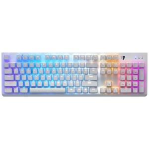 オウルテック 有線ゲーミングキーボード (USB 1.8m) TSG11SFLWBLJP ホワイト(送料無料)