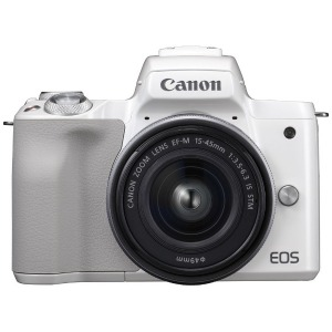 Canon ミラーレス一眼カメラ EOS Kiss M EF-M15-45 IS STM レンズキット (ホワイト)