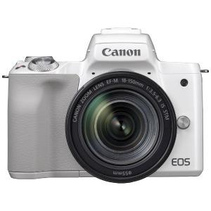 Canon ミラーレス一眼カメラ EOS Kiss M EF-M18-150 IS STM レンズキット (ホワイト)