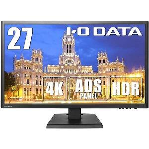 I・O・DATA 27型ワイド 液晶ディスプレイ 4K対応&広視野角ADSパネル採用 LCD-M4K271XDB ブラック
