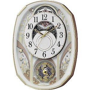 リズム時計工業 電波からくり時計「スモールワールドノエルS」 4MN551RH03 4MN551RH03