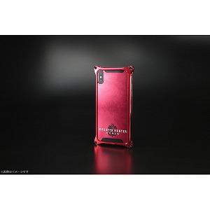 ギルドデザイン モンスターハンターワールドソリッドバンパーforiPhoneX/レッド/ネルギガンテ GI-MON-8