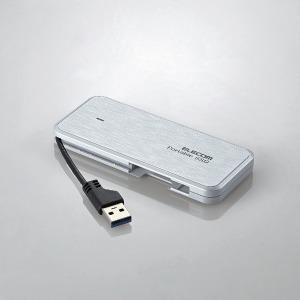 エレコム 外付けSSD/ポータブル/ケーブル収納対応  ESD-EC0120GWH(送料無料)