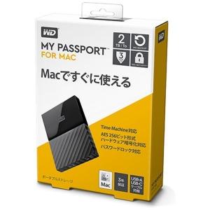 ウエスタンデジタル ポータブルHDD 2TB[USB-A 3.0・Mac] My Passport WDBLPG0020BBK-JESE ブラック(送料無料)