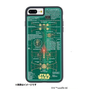 iPhone 8 Plus用 STAR WARS FLASH X-WING 基板アートケース P7P060G 緑
