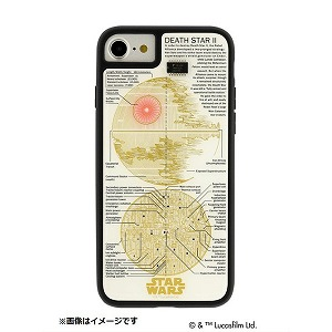 iPhone 8用 STAR WARS FLASH デス・スター 基板アートケース 白 P7070W