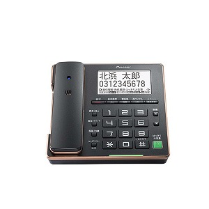 パイオニア 「子機なし」デジタルコードレス留守番電話機 TF-FA75S-B