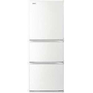 東芝 3ドア冷蔵庫 (330L) GR-M33S-WT グレインホワイト(標準設置無料)