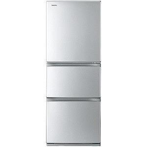 東芝 3ドア冷蔵庫(330L・右開きタイプ) GR-M33S-S シルバー(標準設置無料)