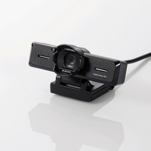 エレコム 800万画素/ステレオマイク内蔵/高精細ガラスレンズ/レンズフード付 UCAM-C980FBBK