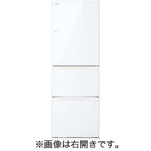 東芝 3ドア冷蔵庫(363L・左開き) GR-M36SXVL-EW グランホワイト(標準設置無料)